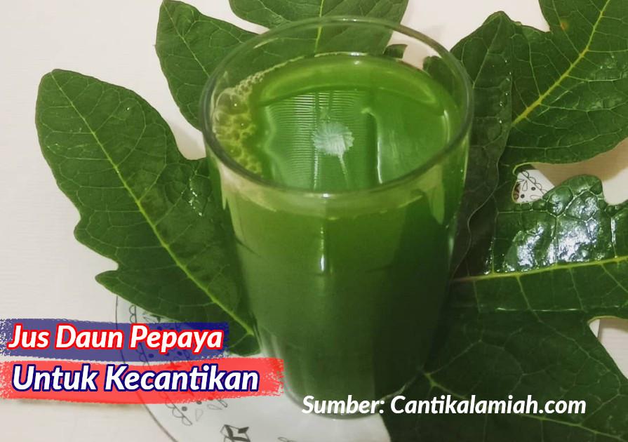 Manfaat jus daun pepaya untuk kecantikan kulit, kuku dan kesehatan pencernaan